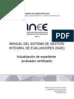 Manual Evaluador SGIE -Actualización de Expediente-11!10!2016V3