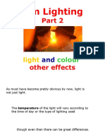 Presentation 2, Part 2 - Film Lighting, Light and Colour
