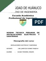 Monografia Norma Tecnica Peruana en  II.ee y II.ss