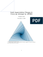 Land Appreciation Charges & Cover-up Attempt by AWHO