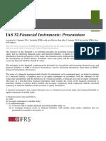 IAS 32 Financial Instruments- Presentation