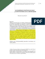 El Modelo Económico-Político de Chile Desarrollo Institucional en La Encrucijada