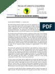 Sasco Nec Statement – 12 October 2016