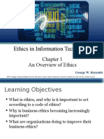 Reynolds PPT Ch01 an overview of ethics