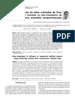 Uso de Leitos Cultivados de Fluxo Vertical Por Batelada No Pós Tratamento de Efluente de Reator Anaeróbio Compartimentado
