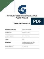 Badminton Assgnmnt Print