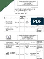 Calendarul Activitatilor Extracurriculare 2016-2017