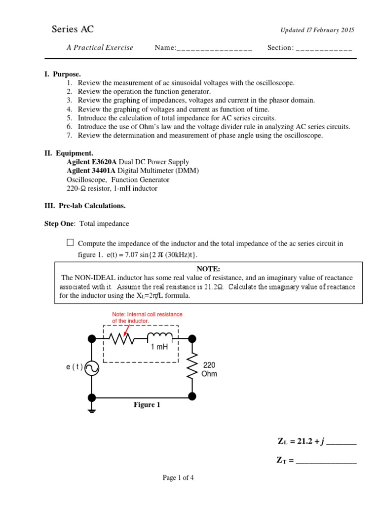 Pe 11 Series Ac Circuits Electrical Impedance And Circuit Calculator Parallel