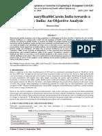 Role of PrimaryHealthCarein India towards a Healthy India