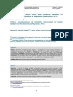 Consideraciones Éticas Sobre Mala Conducta Científica en Investigación en Salud en La República Dominicana (1)