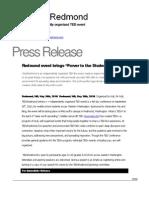 TEDxRedmond Press Release