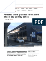 Arrested Teens 'Planned is-Inspired Attack' Say Sydney Police - BBC News