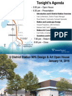 University District Station 90% Station Design
