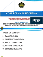 Coal Policy in Indonesia