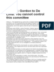 Gordon to de Lima You Cannot Control This Committee