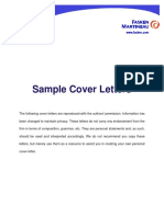 Sample Cover Letters(1)