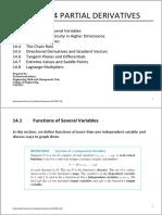 Chapter 14 Partial Derivatives