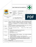 SOP Survei PHBS Tatanan Institusi Kesehatan