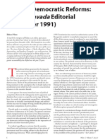 Towards Democratic Reforms - The 1st Pravada Editorial