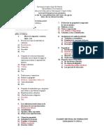 Examen Mensual de Formación Ciudadana y Cívica