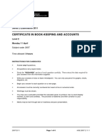 Book Keeping and Accounts Past Paper Series 2 2011