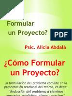 Formulación de Proyecto