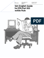 A Plain English Guide to the Epa Part 503 Biosolids Rule