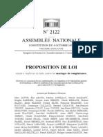 Proposition de Lui Contre Mariages de Complaisance - 27 Novembre 2009 - Marc Le Fur