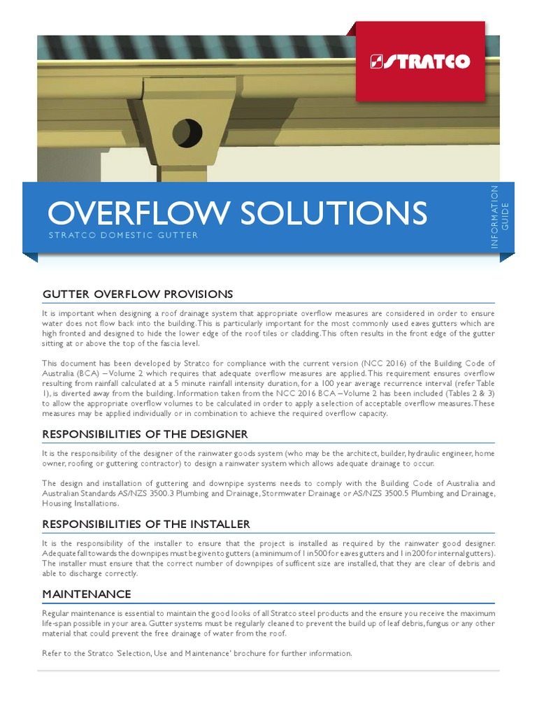 Stratco Gutters Overflow Solutions (2) | Drainage | Building Engineering