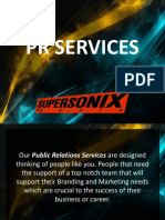 Supersonix Media PR Services Deck