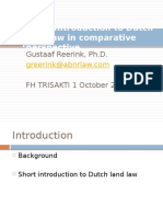 Short Introduction to Dutch Land Law in Comparative - Gustaaf Reerink