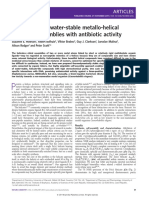 Optically Pure, Water-stable Metallo-helical Flexicate Assemblies With Antibiotic Activity