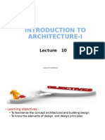 Lecture 10. Introduction to Architecture