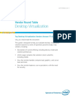 Virtualization Vendor Round Table Guide