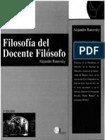6988-Ranovsky, Alejandro - Filosofía Del Docente Filósofo