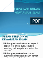 7_sebab & Rukum Kewarisan Islam