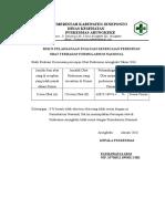 Bukti Pelaksanaan Evaluasi Kesesuaian Peresepan Terhadap Formularium
