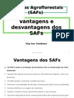 Vantagens e Desvantagens Dos SAFs