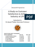 A Study on Customer Satisfaction in Airl