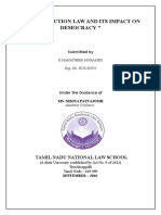 ANTI-DEFECTION LAW AND ITS IMPACT ON DEMOCRACY