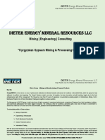 Kyrgyzstan Gypsum Project Synopsis