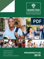 Mancosa Mid Year 2016 Ug Propectus