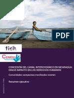 Concesión del canal interoceánico en Nicaragua