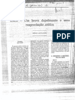 JAGUARIBE, Helio - Um breve depoimento e uma reapreciação crítica - Cadernos de opinião