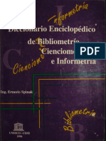 Dicionário Enciclopédico de Infometria_bibliometria_cientometria e Infometria