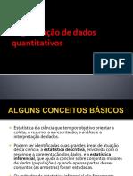 Organização de dados quantitativos