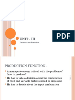 3. Production Function