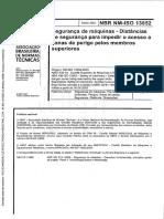 NBR NM-IsO 13852-Seg. de Maq.-distâncias de Seg. Para Impedir o Acesso a Zonas de Perigo Pelos Membros Superiores