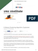 K Means Clustering Algorithm_ Explained – DnI Institute