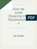 Over de Juiste Dosering Van Sleutelwoorden